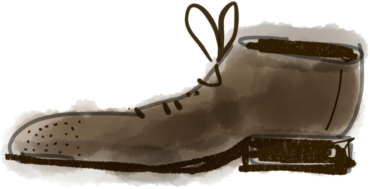 zapato dibujado